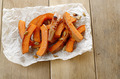 Pumpkin slices on baking paper - PhotoDune Item for Sale