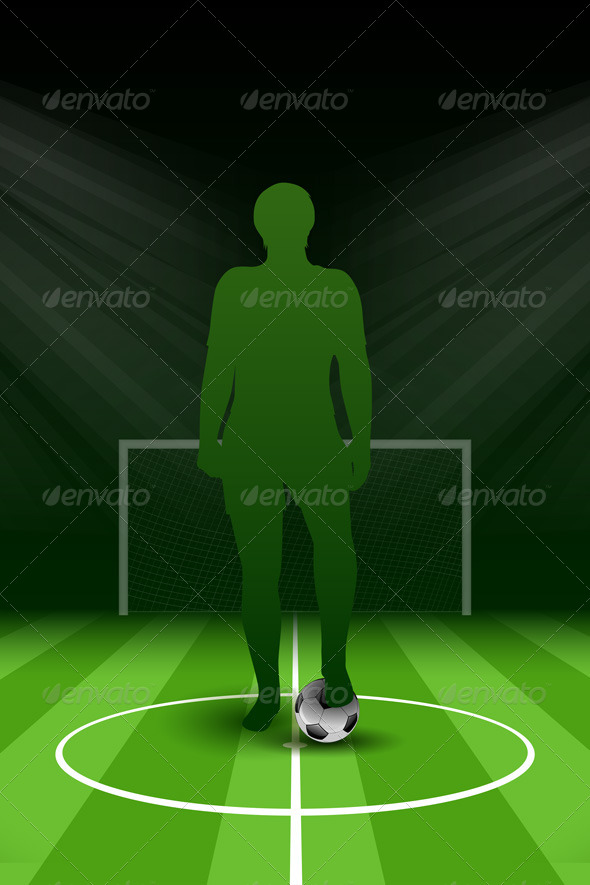 GraphicRiver Soccer Poster with Player and Ball 7666447