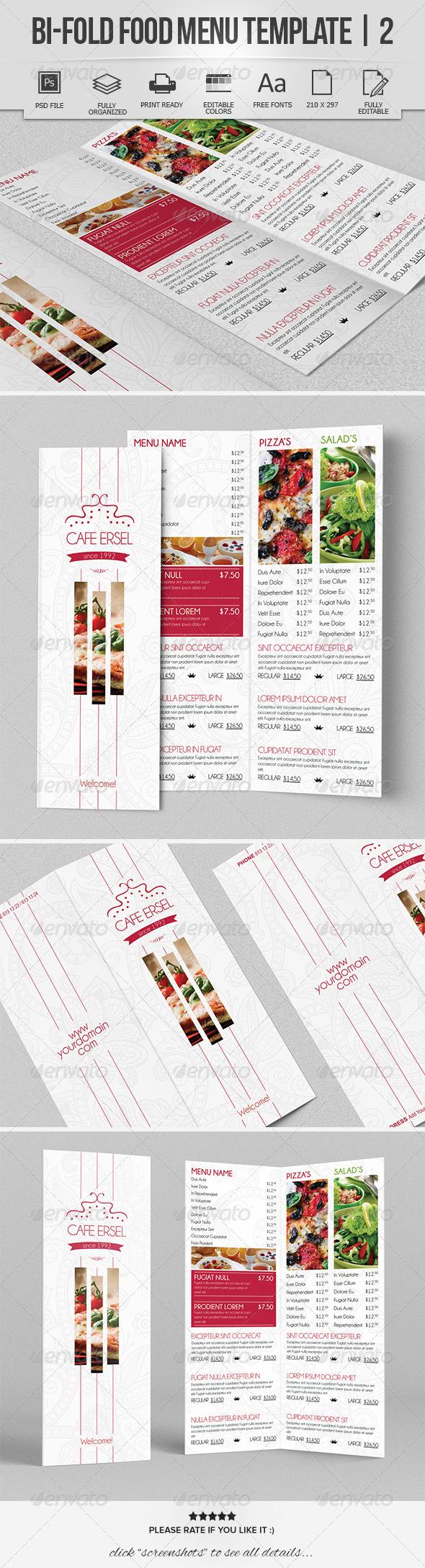 GraphicRiver Bi-Fold Food Menu Template 2 7666471
