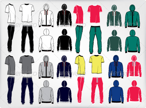 GraphicRiver Set of Men s Sport Clothes 7666532