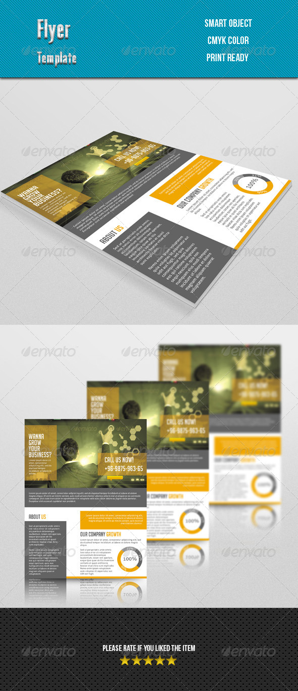 GraphicRiver Corporate Flyer 7666564