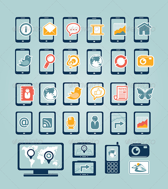 GraphicRiver Mobile Device Icons 7666617