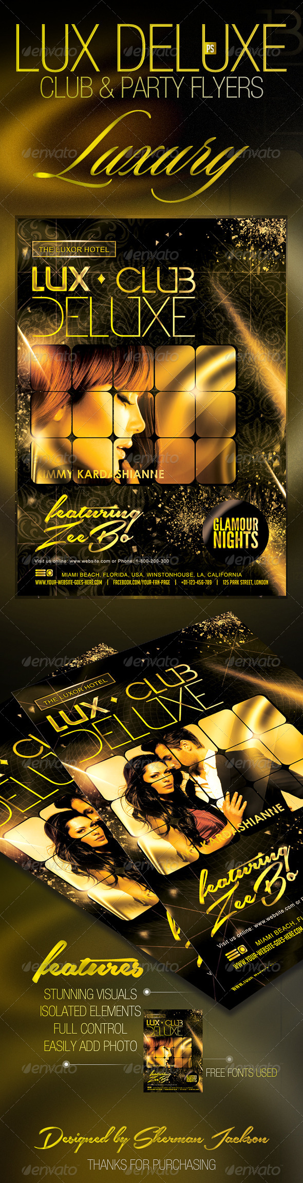 GraphicRiver Lux Deluxe VIP Club Party Flyer 7666811