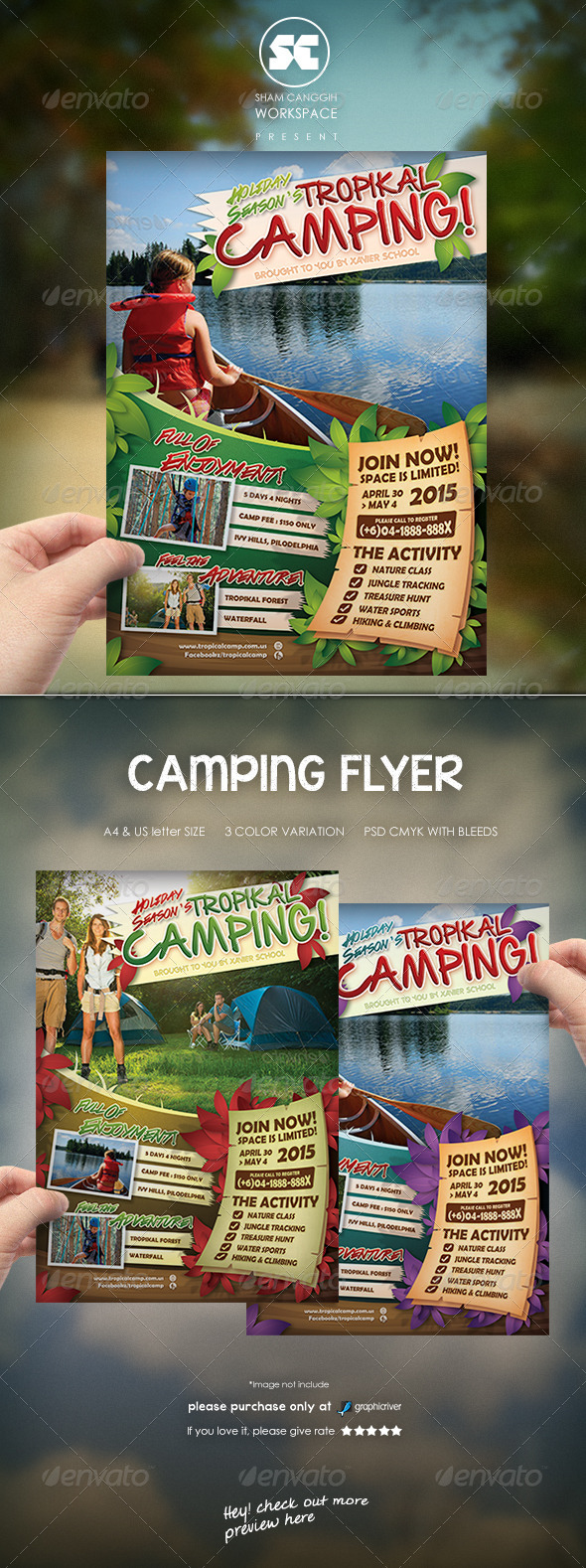 GraphicRiver Camping Adventure Flyer Magazine Ads 7666925