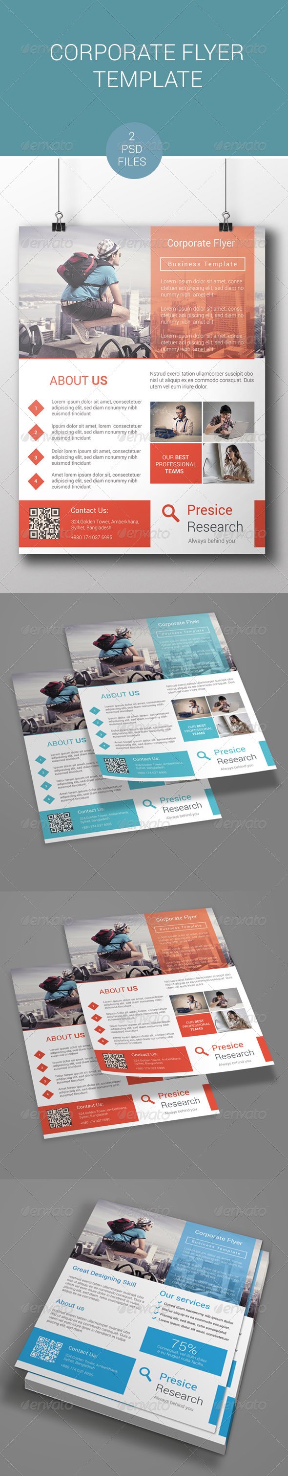 GraphicRiver Corporate Flyer Template 7666978