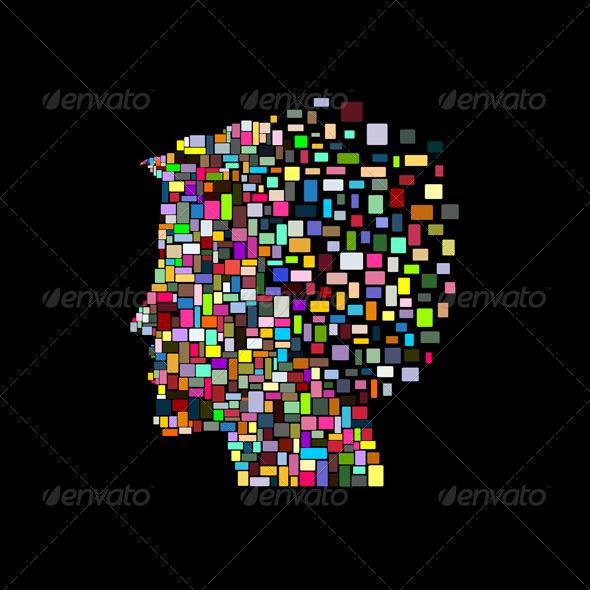 GraphicRiver Man Head 7667000