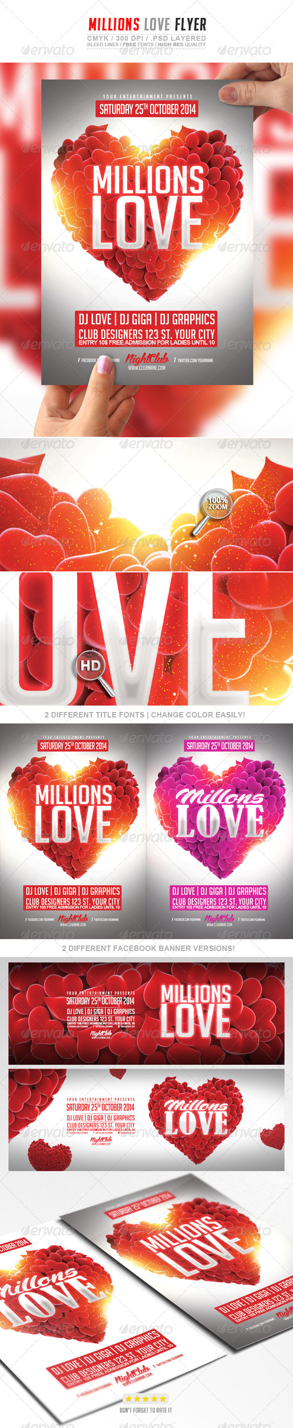 GraphicRiver Millions Love Flyer 7667528