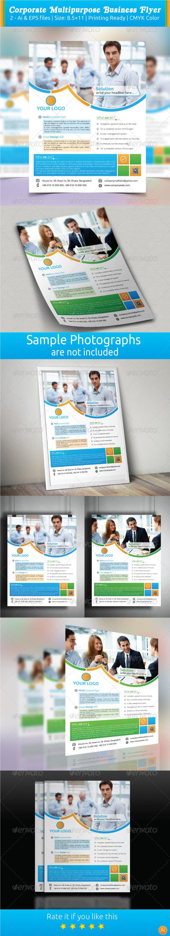 GraphicRiver Corporate Multipurpose Business Flyer 7667685