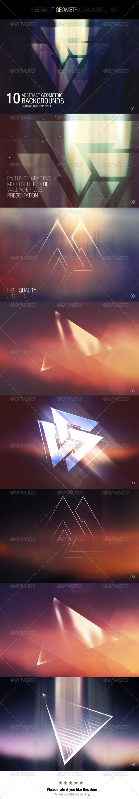 GraphicRiver Abstract Geometric Backgrounds 7667711
