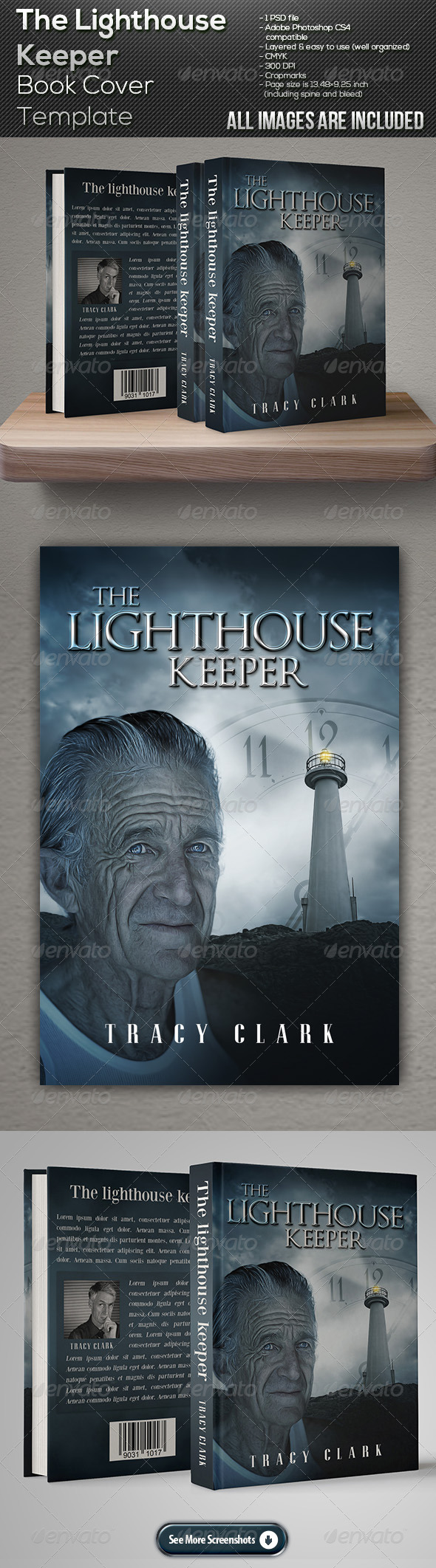 GraphicRiver The Lighthouse Keeper Book Cover Template 7667767