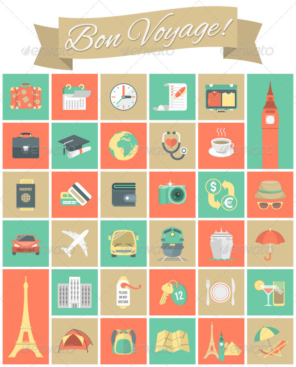 GraphicRiver Traveling Icons Set 7667839
