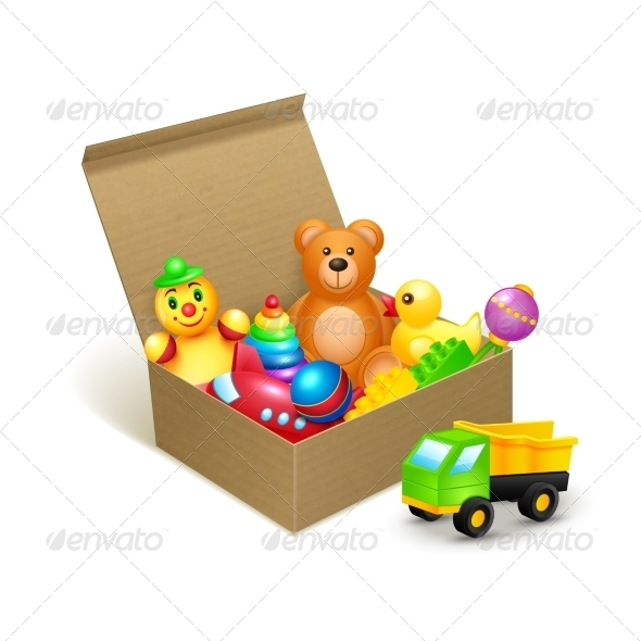 GraphicRiver Toys Box Emblem 7668244