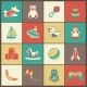 Toys Flat Icons Set - GraphicRiver Item for Sale