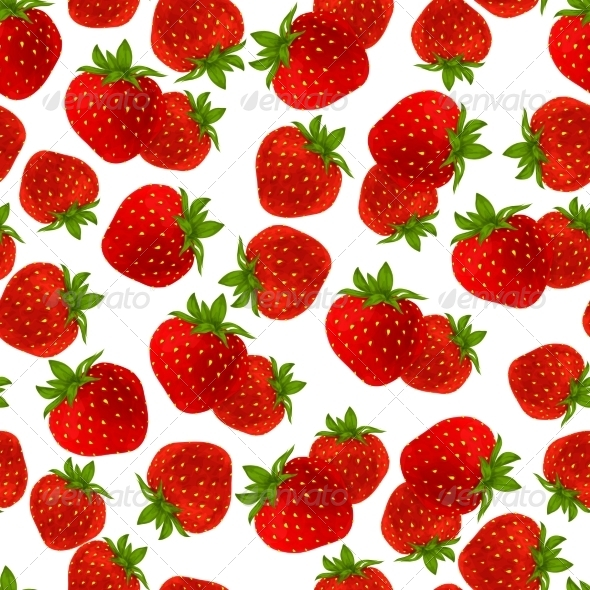 GraphicRiver Strawberry Seamless Pattern 7668310
