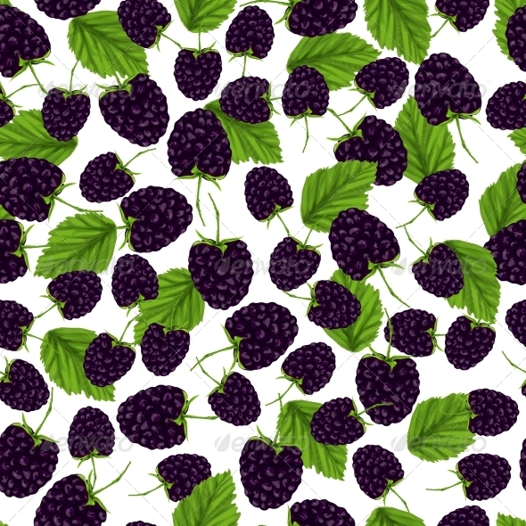 GraphicRiver Blackberry Seamless Pattern 7668314