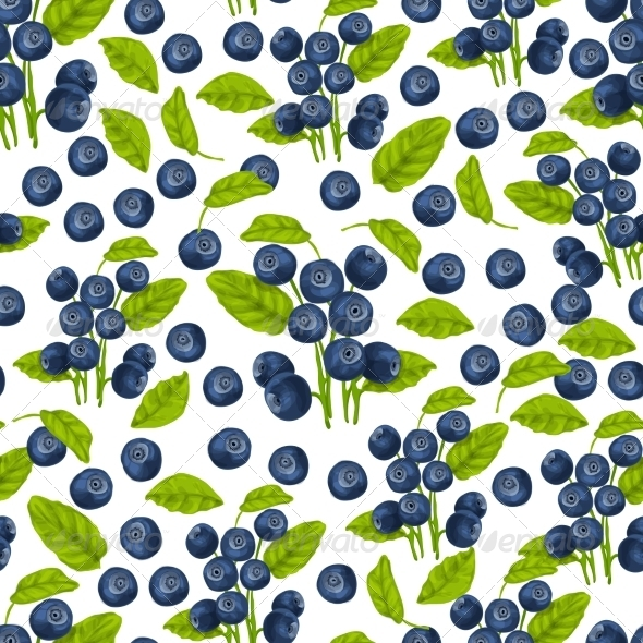 GraphicRiver Blueberry Seamless Pattern 7668315