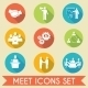 Meet Business Partners Icons Set - GraphicRiver Item for Sale