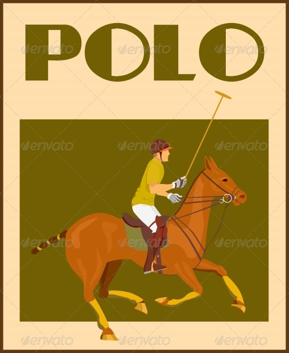 GraphicRiver Polo Player on Horse Poster 7668322