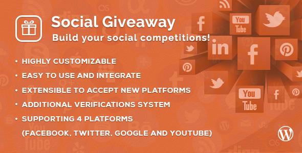 CodeCanyon Social Giveaway WordPress Plugin 7668339