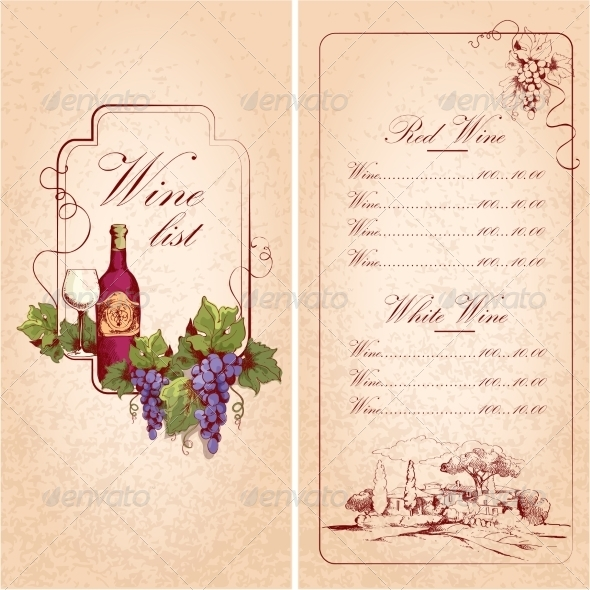 GraphicRiver Wine List Template 7668345