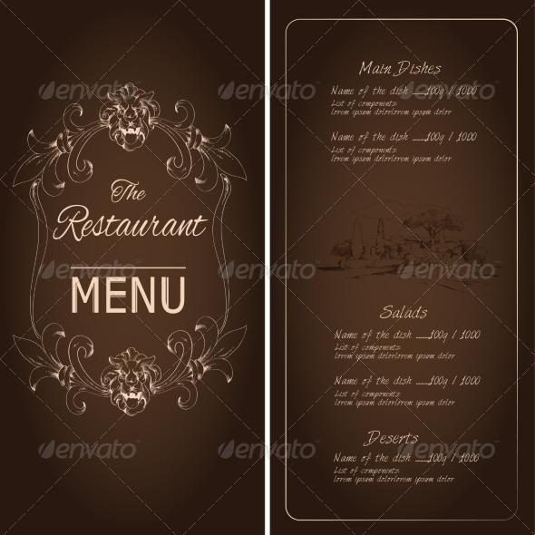 GraphicRiver Restaurant Menu Template 7668346