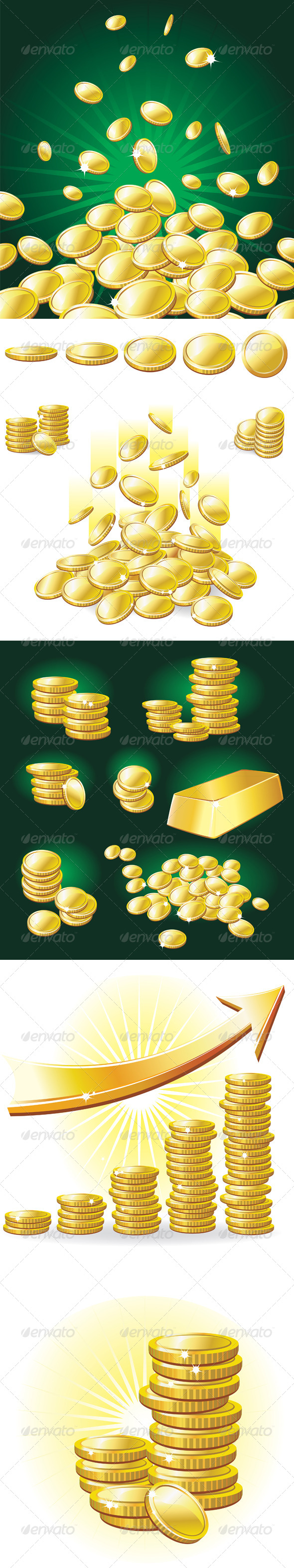 GraphicRiver Set of Gold Coins 7668355