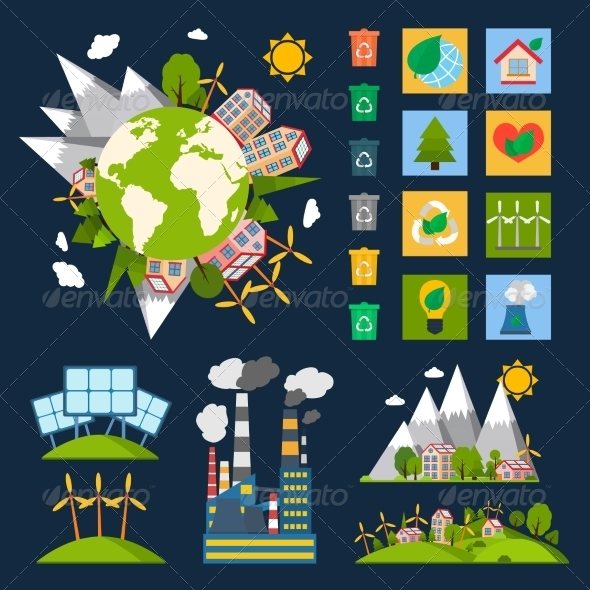 GraphicRiver Ecology Symbols Set 7668356