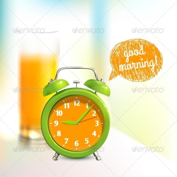 GraphicRiver Alarm Clock Background 7668367