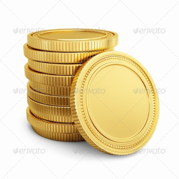 GraphicRiver Gold coins 7668370