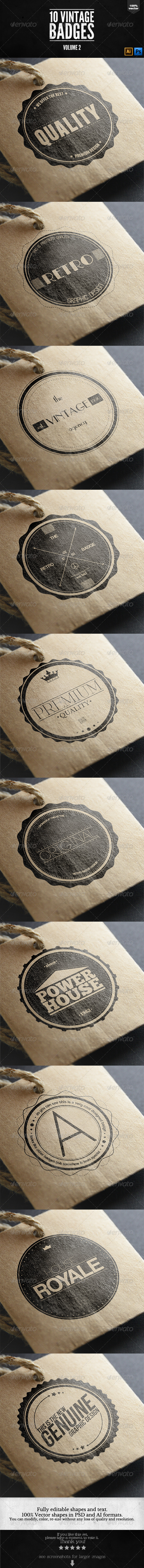 Vintage Labels and Badges Vol.2 - Badges & Stickers Web Elements