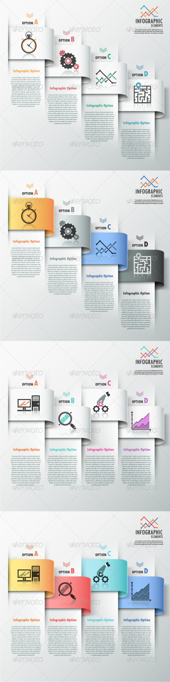 GraphicRiver Modern Infographic Options Banner 4 Versions 7668405