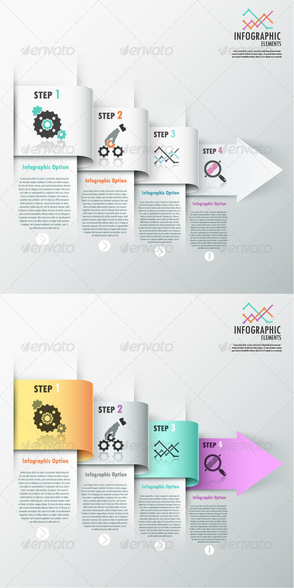 GraphicRiver Modern Infographic Options Banner 2 Versions 7668447