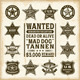 Vintage Sheriff, Marshal and Ranger Badges Set - GraphicRiver Item for Sale