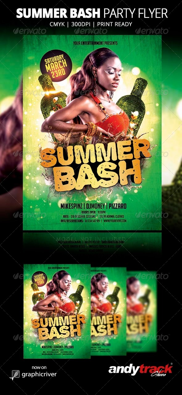 GraphicRiver Summer Bash Flyer Template 7668638