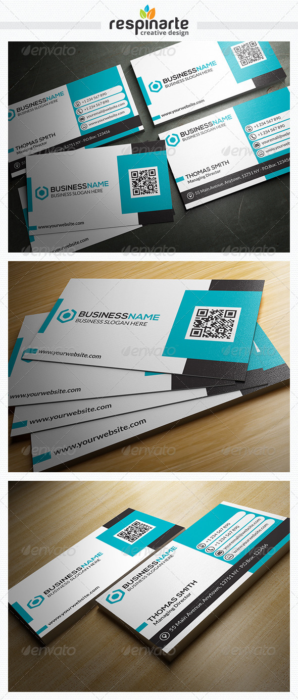 GraphicRiver Corporate Business Card RA22 7668701