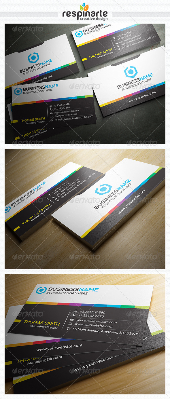 GraphicRiver Corporate Business Card RA24 7668729