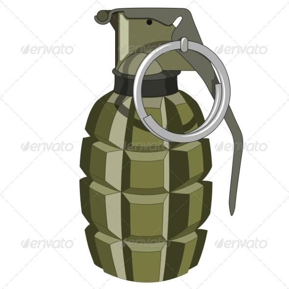 GraphicRiver Hand Grenade 7668813