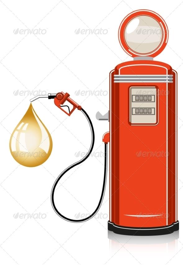 GraphicRiver Retro Gas Pump 7668817