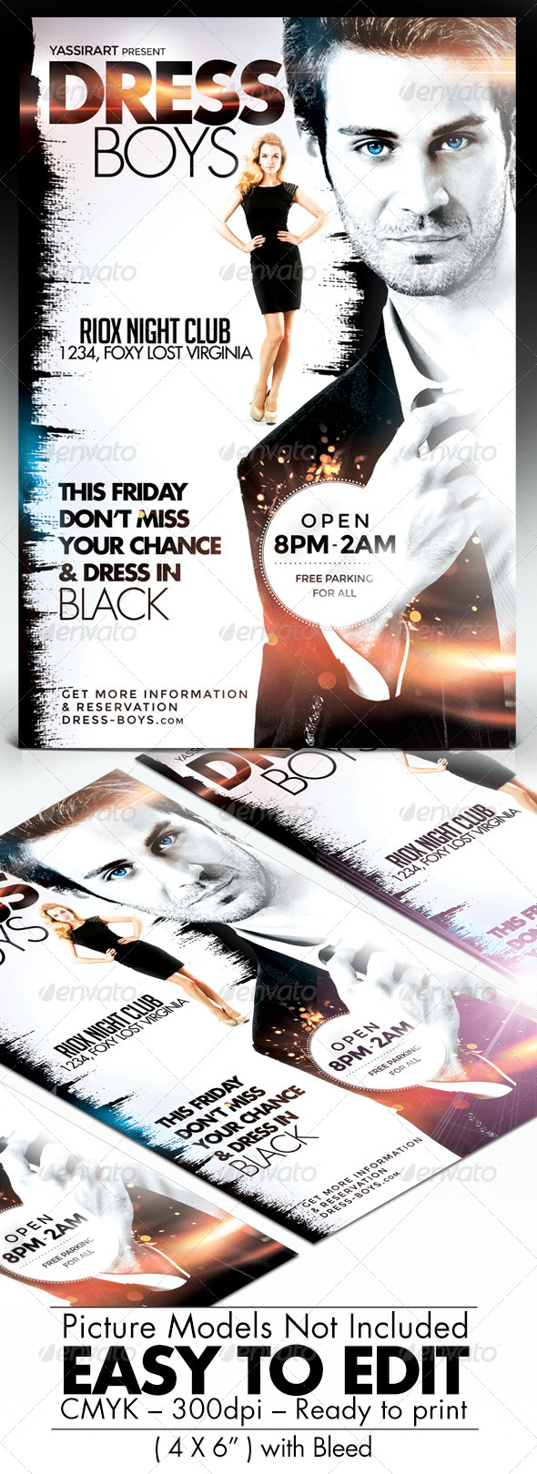 GraphicRiver Dress Boys Party Flyer 7669122