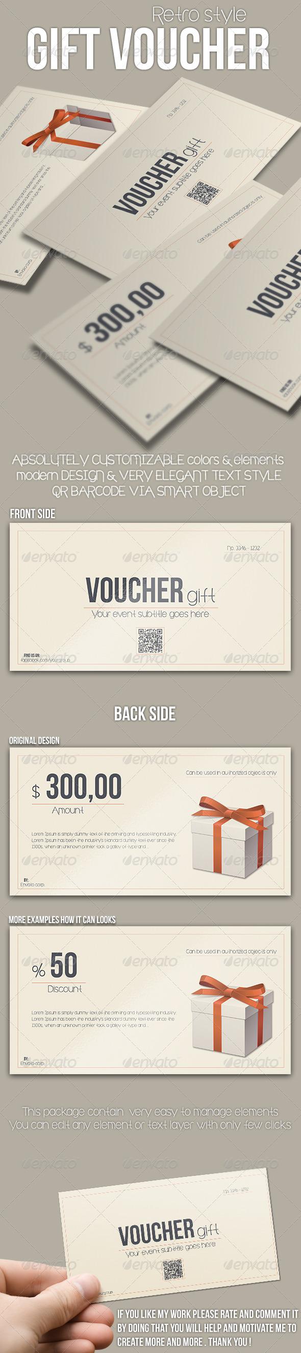 GraphicRiver Multipurpose Retro Voucher 7669318