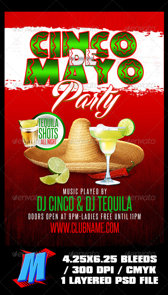 GraphicRiver Cinco De Mayo Flyer Template 7669396