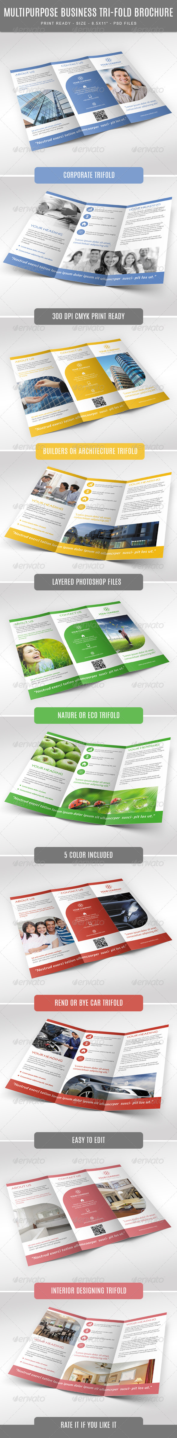 GraphicRiver Multipurpose Trifold Brochure 7669489