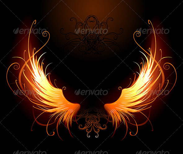 GraphicRiver Fiery Wings 7670293