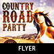 Country Road Party Flyer Template - GraphicRiver Item for Sale