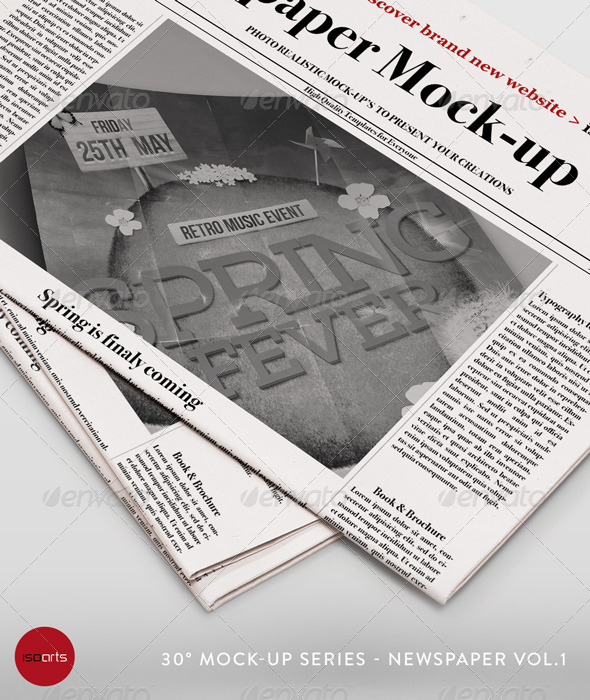GraphicRiver Mock-Up Newspaper Vol.1 7670527