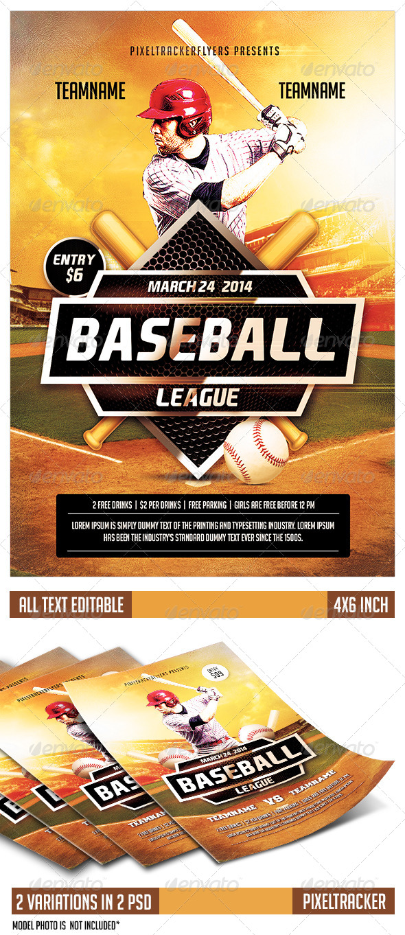GraphicRiver Baseball Flyer Template 7670607