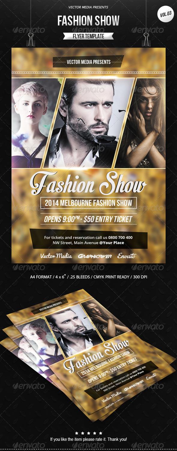 GraphicRiver Fashion Show Flyer [Vol.03] 7670847