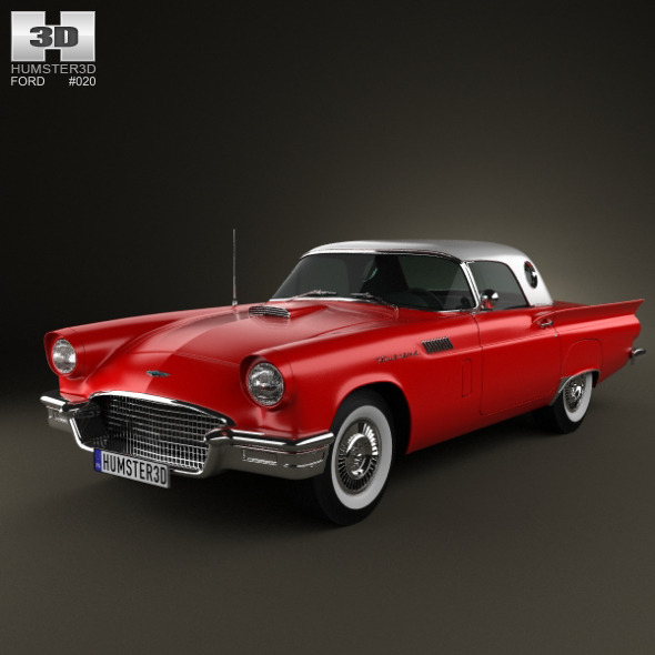 Ford Thunderbird 1957 - 3DOcean Item for Sale