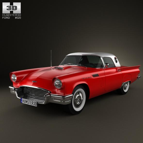 3DOcean Ford Thunderbird 1957 785441