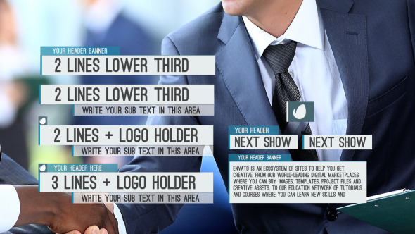 12 Modern Lower Thirds